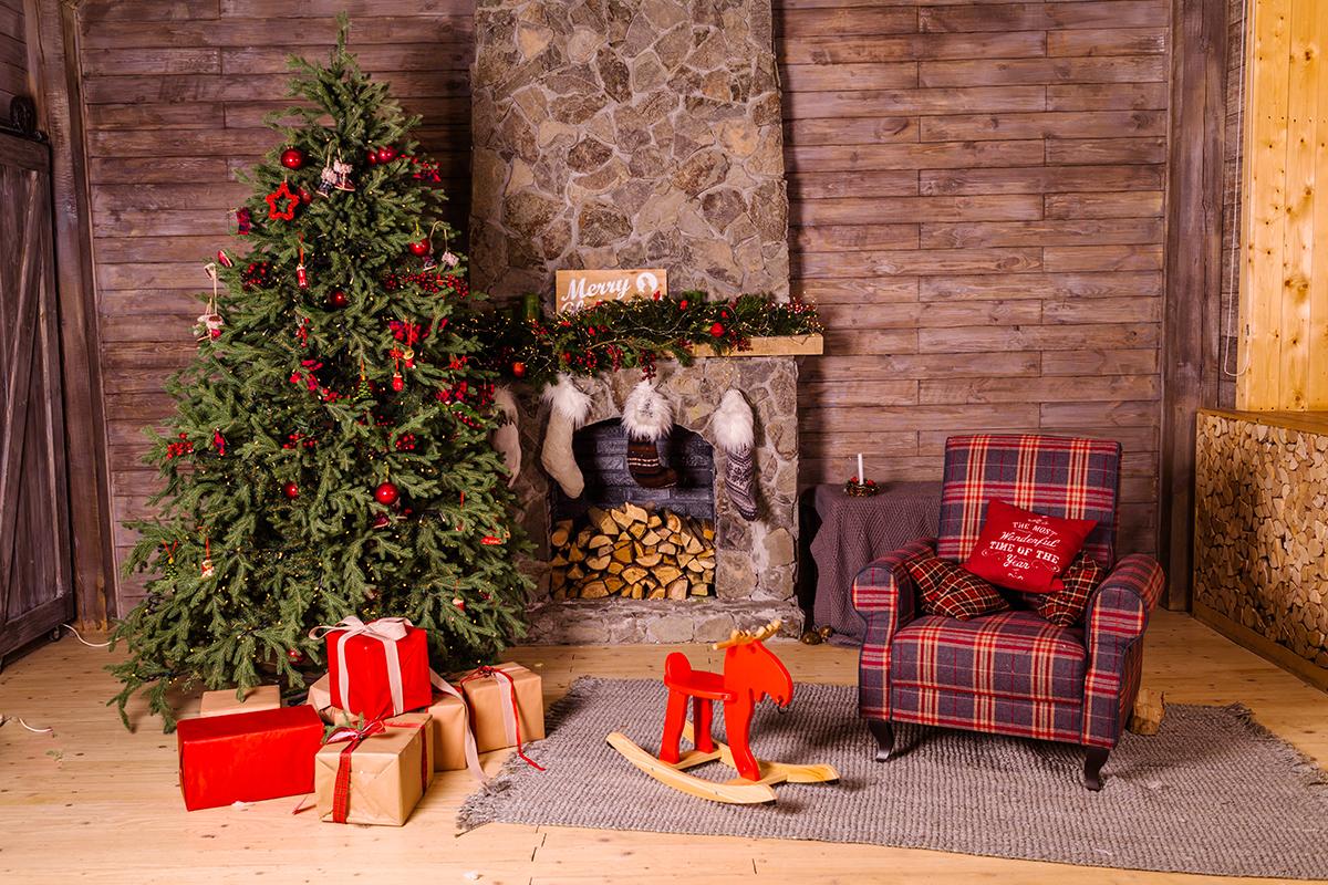 Zet een stapje achteruit en fotografeer de kerstboom en de omgeving